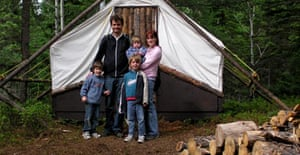 Terry Slavin and family, Quebec
