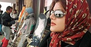 Skiing, Dizin, Iran