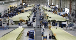 Airbus A360 being assembled in Broughton
