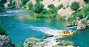 Rafting in Croatia's secluded rivers