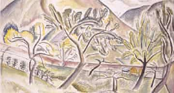 Painting of The Orchard by David Jones (Copyright: artist's estate)