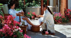Pedicure at a One&Only Resort