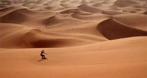 Dune-boarding in Morocco