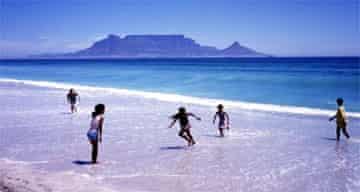 Children in the sea, Cape Town