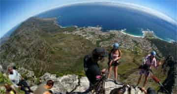 Abseiling down Table Mountain in Cape Town