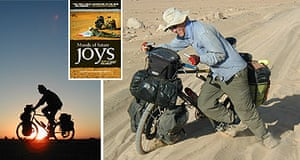 Alastair Humphreys on his bike, and his book