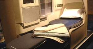 The new BA business class flat bed