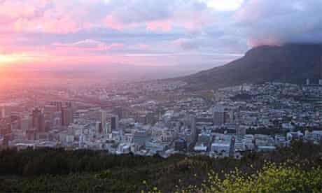 Sunrise over Cape Town from Signal Hill