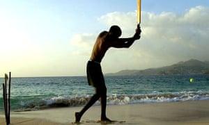 Cricket on a a Caribbean beach