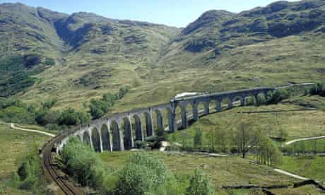 Train in the Scottish Highlands