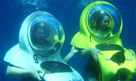 Bob-diving off Tenerife