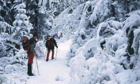 Snowshoeing in Bulgaria