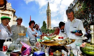 The annual Lille Braderie, the largest flea market in Europe
