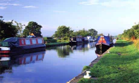 Canal boat, Cheshire