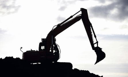 A digger on a building site