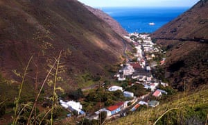 St Helena (in the South Atlantic)