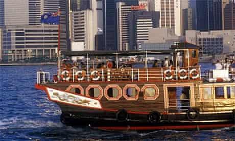 Sightseeing boat in Hong Kong
