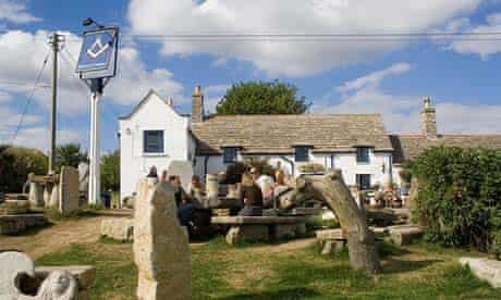 Square and Compass pub, Dorset, England