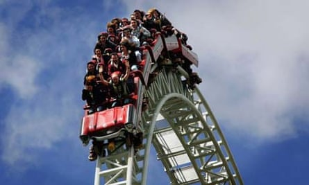 The Stealth rollercoaster at Thorpe Park, UK