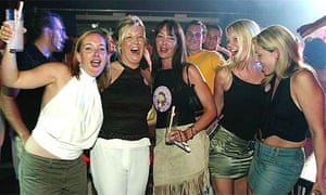Girls on a hen party in Barcelona