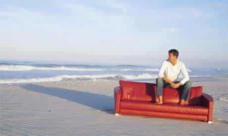 Couch on a beach