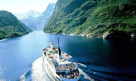 Hurtigruten, a coastal ferry in Norway