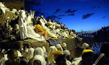 Worshippers in Lalibela for Timkat festival
