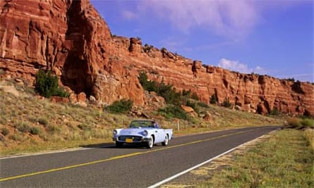 Road trip on Route 66, US