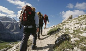 Gap year backpackers