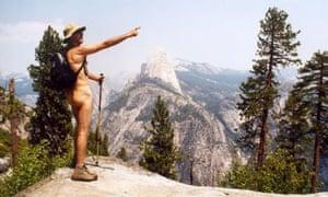 Hank Wangford, nude mountaineer