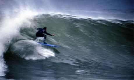 Surfing in Wales