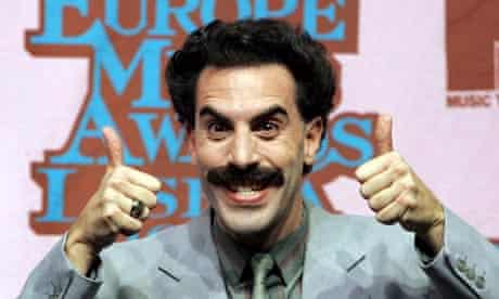 Borat giving a thumbs up sign