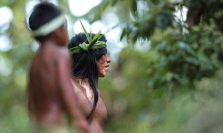 Huaorani tribes people, Ecuador