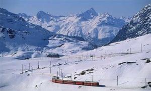A train in the Alps