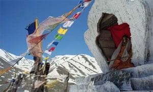 """Colorful Prayer Flags in the Himalayas, Himachel Pradesh"""