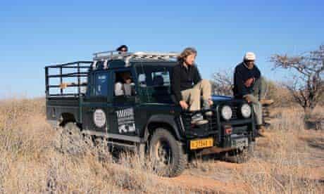 Sue Watt in Namibia