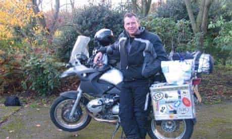 Mike Carter with his motorbike
