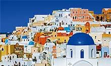 The Village of Oia, Santorini, Greece
