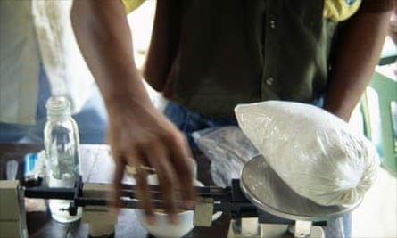 Weighing Cocaine in Colombia