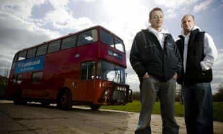 Dan Spokes and Matt Lumber with their bus