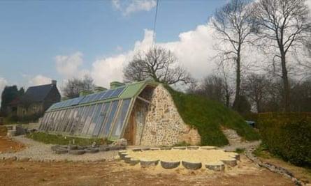 Earthship eco-gite, Normandy, France