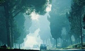 Road trip in a car