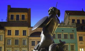 Statue in Warsaw old town