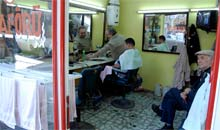 Barber shop in Cihangir district of Istanbul