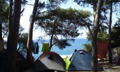 Camping beach: Cala Sa Cova, Spain