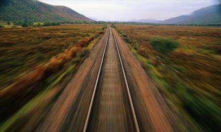 Train tracks in Scotland