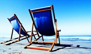 Deck chairs on the beach