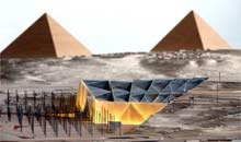 Artist impression of the planned Grand Egyptian Museum in Cairo