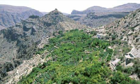 The Jabal Akhdar mountains in Oman