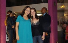 Vicky Baker and her host Lucia in Salvador